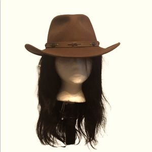 VINTAGE ADORA BROWN WOOL WESTERN HAT
